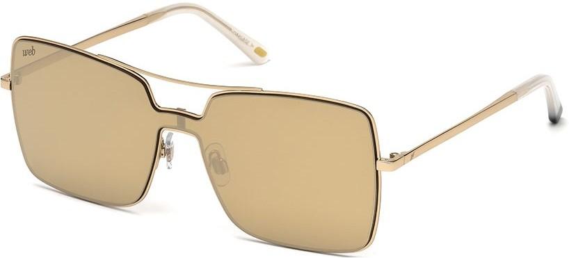 ff9ca5f4b Óculos quadrado máscara Web Eyewear dourado espelhado Óculos quadrado  máscara Web Eyewear dourado espelhado