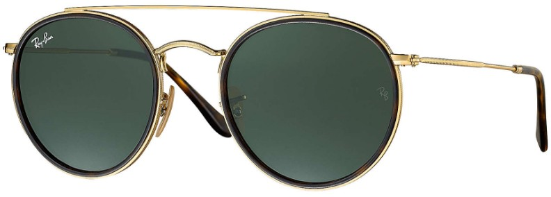 Ray Ban Double Bridge 3647N 001 - Óculos de Sol fb9b7234ca