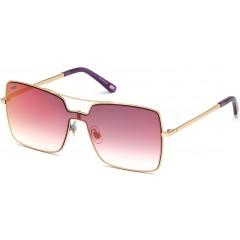 Óculos quadrado máscara Web Eyewear espelhado rosa vermelho