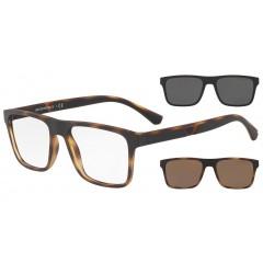 Emporio Armani 4115 58021W - Oculos de Grau  Clip On Solar