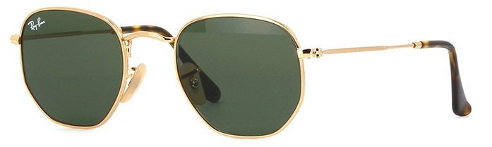 f0eaf0ebb4 Ray Ban Hexagonal 3548N 001 - Óculos de Sol - Tamanho 51