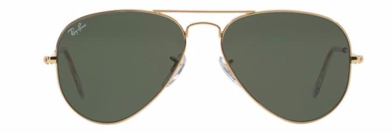 Ray Ban Aviador Dourado Lente Verde G15