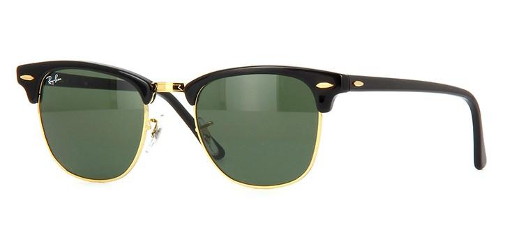 Ray Ban Clubmaster Preto com Verde G15