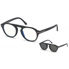 Tom Ford 5533B 02A - Oculos de Grau + Clip On